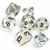Aquerple & Black Borealis Polyhedral 7 Dice Set